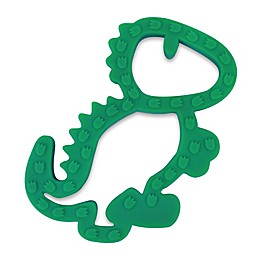 Itzy Ritzy® Dinosaur Silicone Teether in Green