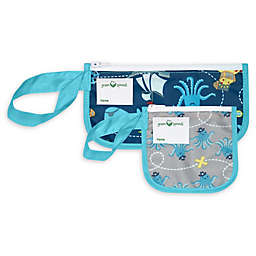 Green Sprouts® 2-Pack Pirate Reusable Snack Bags in Aqua