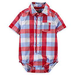 OshKosh B'gosh® Plaid Bodysuit in Red/Blue