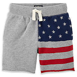 OshKosh B'gosh® American Flag Shorts in Grey/Navy/Red