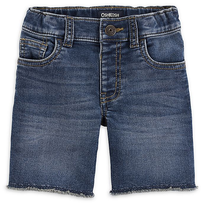 Alternate image 1 for OshKosh B'gosh® Medium Wash Denim Short in Blue/White