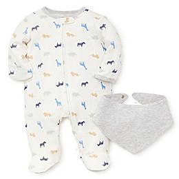 Little Me® Preemie 2-Piece Giraffe Footie and Bib Set