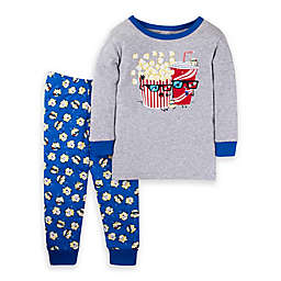 Lamaze® 2-Piece Popcorn Organic Cotton Toddler Pajama Set in Grey/Blue