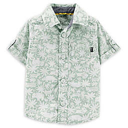 OshKosh B'gosh® Safari Button-Front Shirt in Sage/White