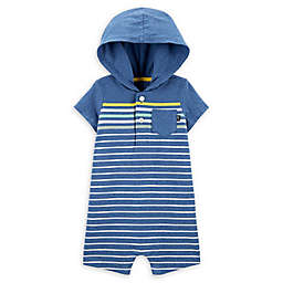 OshKosh B'gosh® Hooded Romper in Blue