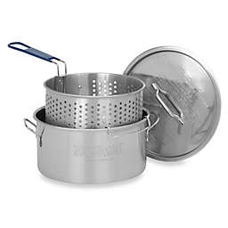Bayou Classic® 14-Quart Stainless Fry Pot with Basket and Lid