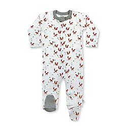 Finn by Finn + Emma® Foxes Organic Cotton Footie in White