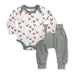 Finn by Finn + Emma® 2-Piece Foxes Organic Cotton Bodysuit and Pant Set in White