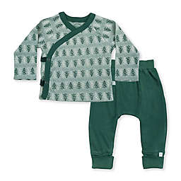 Finn by Finn + Emma® 2-Piece Trees Organic Cotton Bodysuit and Pant Set in Green