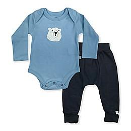 Finn by Finn + Emma® 2-Piece Bear Organic Cotton Bodysuit and Pant Set in Blue