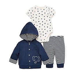 Little Me® 3-Piece Elephant Bodysuit, Jacket, and Pants in Navy