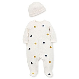 Little Me® 2-Piece Quilted Elephant Footie and Cap Set in Ivory