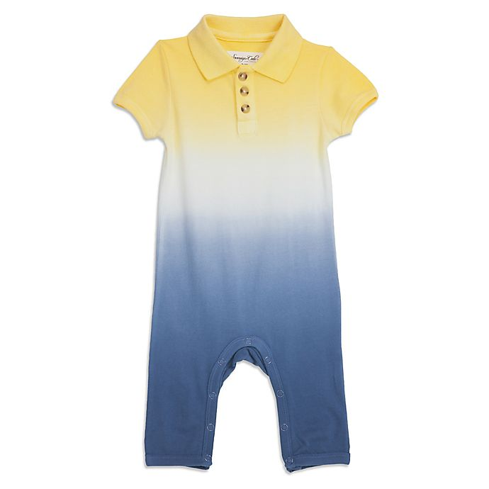 Alternate image 1 for Sovereign Code® Short Sleeve Ombre Polo Coverall in Yellow/Indigo