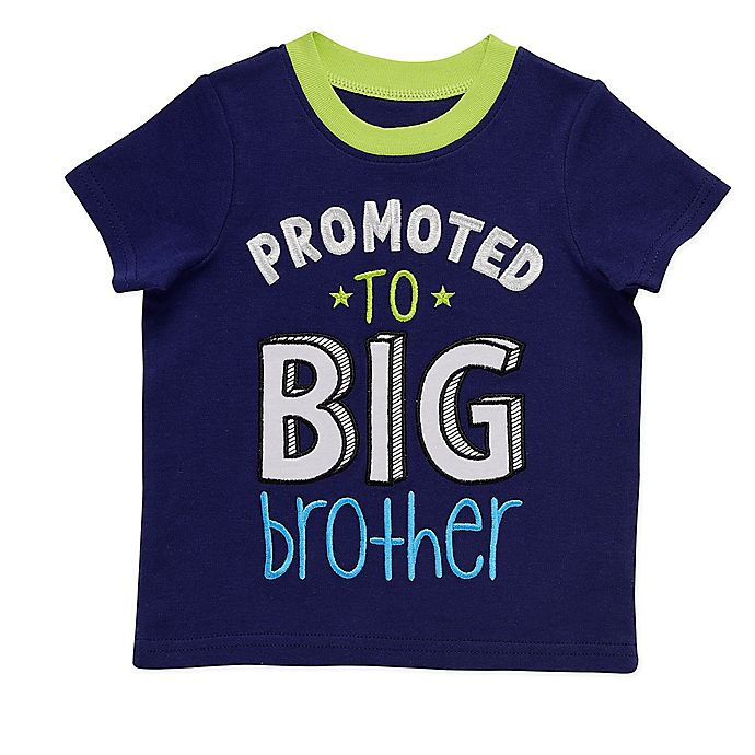 Alternate image 1 for Start-up Kids® Promoted Big Brother T-Shirt in Navy/Lime
