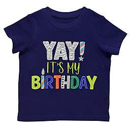 """Start-Up Kids® """"Yay B-Day!"""" Toddler T-Shirt in Navy"""