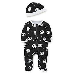 Focus Kids™ 2-Piece Panda Footie and Hat Set in Black