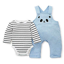 Focus Kids™ 2-Piece Panda Overall and Bodysuit Set in Blue