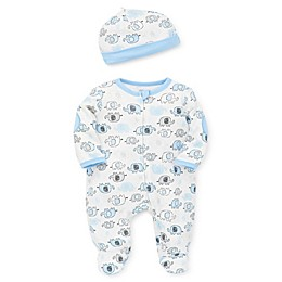 Little Me® 2-Piece Blue Elephant Footie and Hat Set