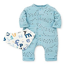 Focus Kids™ Alphabet 2-Piece Coverall and Bib Set in Blue