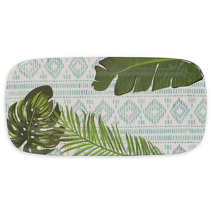 Alternate image 1 for Fitz and Floyd® Tropical Fun 17-Inch Melamine Elongated Tray