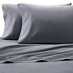 Under The Canopy® HomeGrown™ Organic Cotton 250-Thread-Count King Sheet Set in Grey