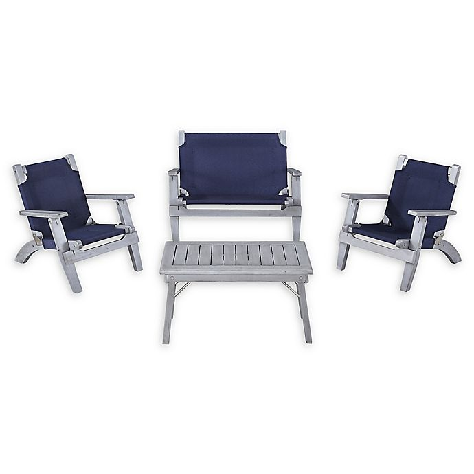 Groovy Linon Home 4 Piece Kids Patio Furniture Set In Grey Buybuy Download Free Architecture Designs Scobabritishbridgeorg