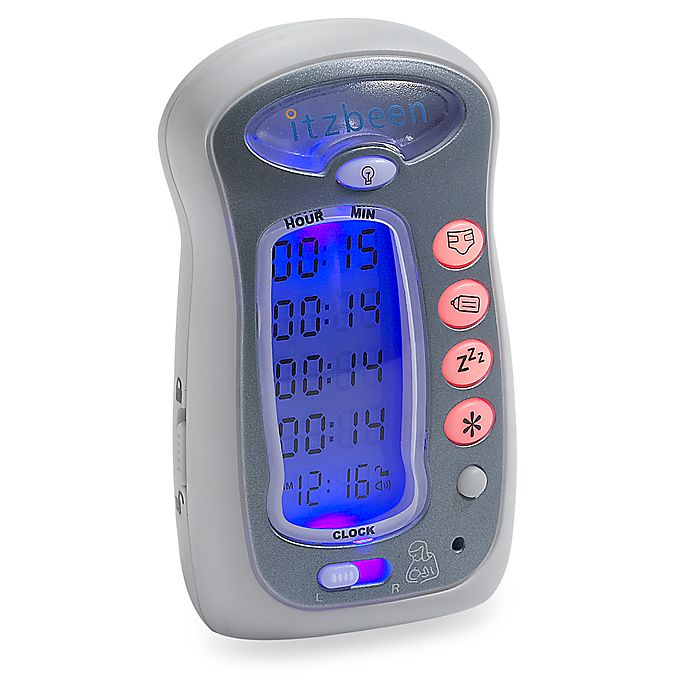 Alternate image 1 for Itzbeen™ Pocket Nanny™ Baby Care Timer in Grey