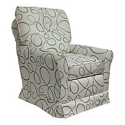 The 1st Chair™  Tate Swivel Glider in Abstract Circle