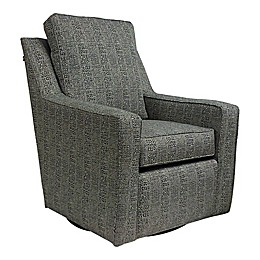 The 1st Chair™  Ellis Swivel Glider in Charcoal Shell