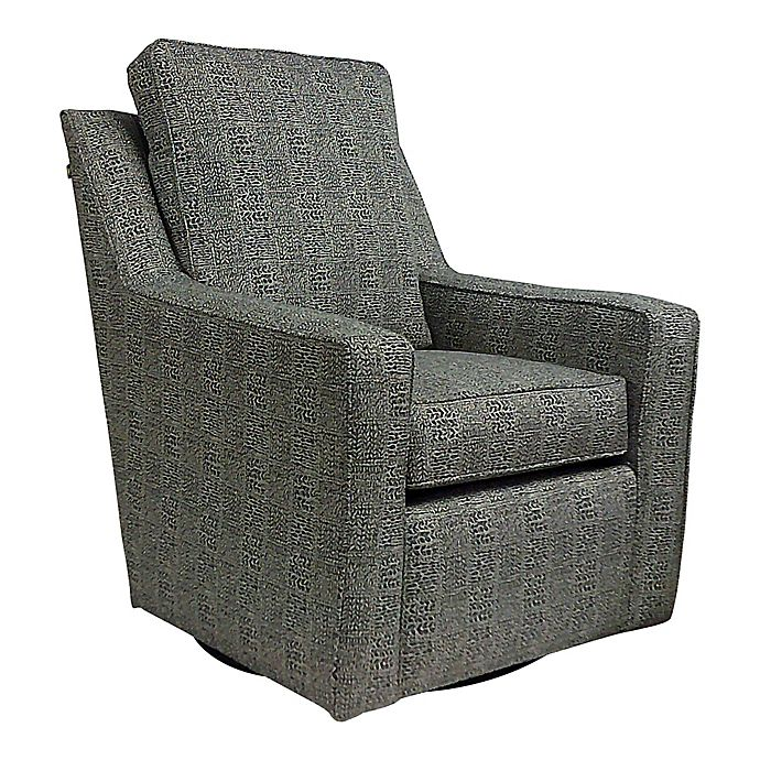Alternate image 1 for The 1st Chair™  Ellis Swivel Glider in Charcoal Shell