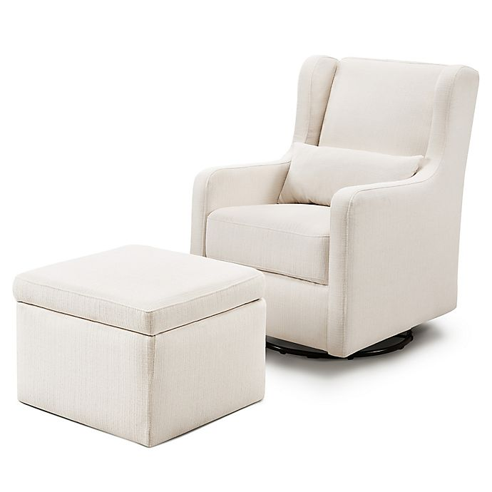 Alternate image 1 for carter's® by DaVinci® Adrian Swivel Glider with Storage Ottoman
