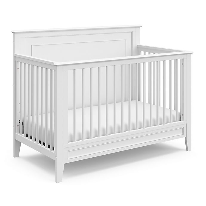 Alternate image 1 for Storkcraft™ Solstice 4-in-1 Convertible Crib in White