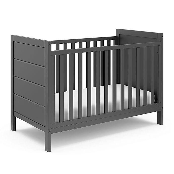 Alternate image 1 for Storkcraft™ Nestling 3-in-1 Convertible Crib in Grey