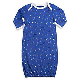 Asher And Olivia Size 0-12M Geo Print Gown in Blue
