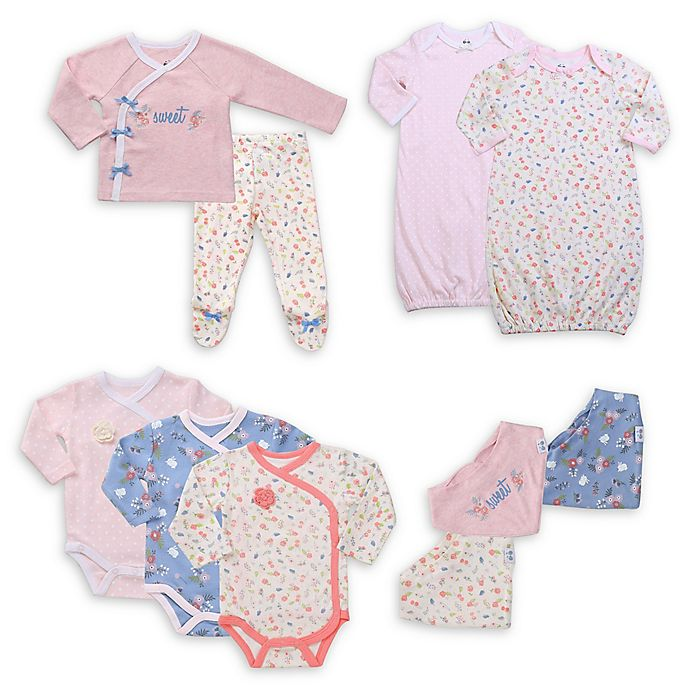 Alternate image 1 for asher and olivia® 10-Piece Stripes and Stars Layette Set