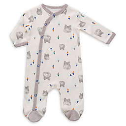 asher and olivia® Wolf Geo Footie in White