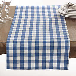 Saro Lifestyle Gingham 72-Inch Table Runner