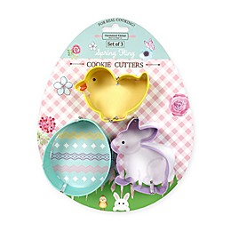 Handstand Kitchen Spring Fling Easter 3-Piece Cookie Cutter Set