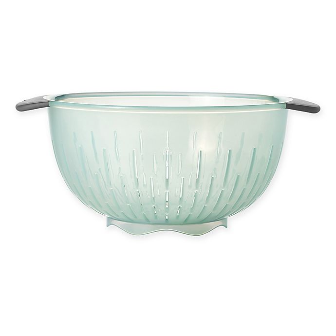 Alternate image 1 for OXO Good Grips® 5 qt. Colander in Sea Glass