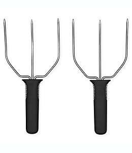 OXO Good Grips® Trinches para pavo en plata y negro, 2 piezas