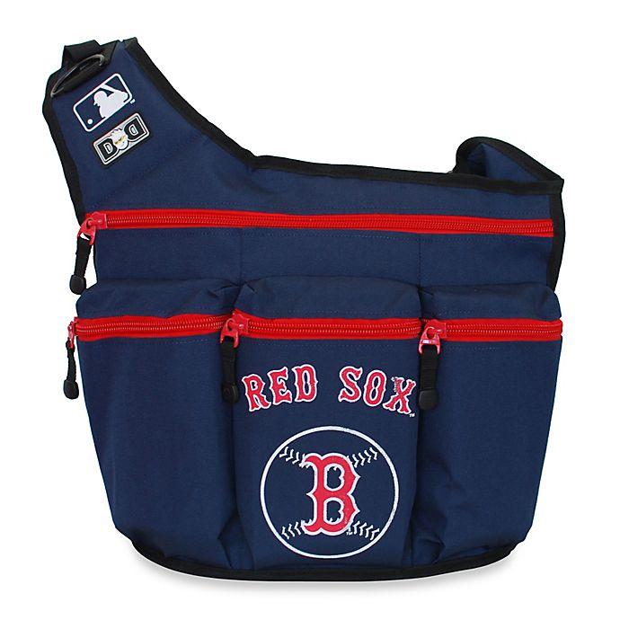 Alternate image 1 for Diaper Dude® MLB™ Red SoxMessenger Diaper Bag