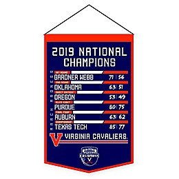 University of Virginia 2019 NCAA Basketball Road to the National Championship Mini Banner