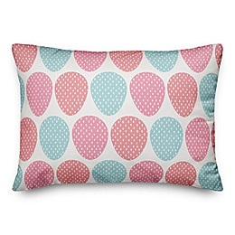 Designs Direct Colorful Easter Eggs Oblong Throw Pillow in Pink