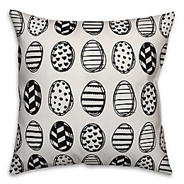 Designs Direct Egg Pattern Throw Pillow in Black
