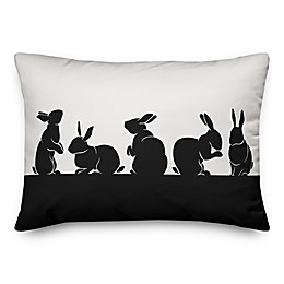 Designs Direct Bunny Shadows Throw Pillow in Black