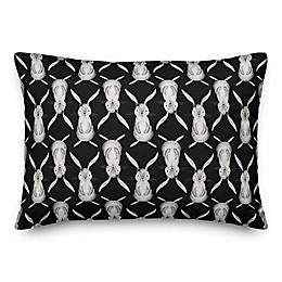 Designs Direct Modern Bunnies Throw Pillow in Black