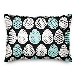 Designs Direct Polka Dot Eggs Throw Pillow in Black