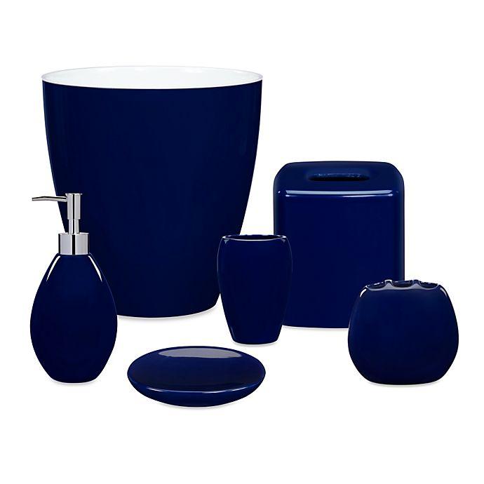 wamsutta® elements navy bath ensemble   bed bath & beyond