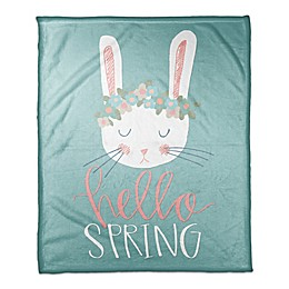 Designs Direct Spring Bunny Throw Blanket in Teal