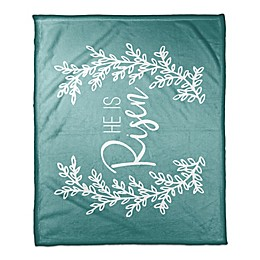 Designs Direct He Is Risen Throw Blanket in Teal